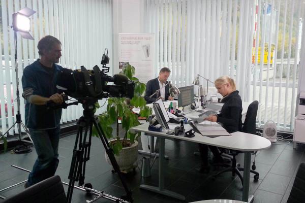 <p>Dreharbeiten INNOVATIONSPREIS 2012</p>